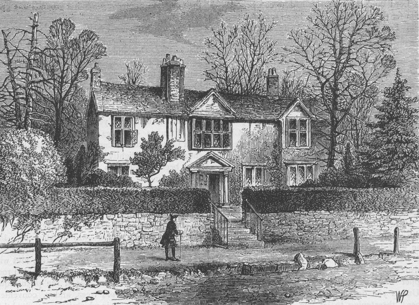 Associate Product HIGHGATE. Marvell's House, 1825. London c1880 old antique print picture