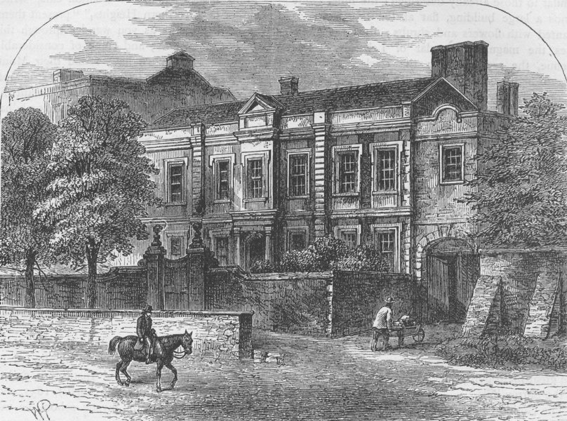 Associate Product HIGHGATE. Cromwell House, Highgate. London c1880 old antique print picture
