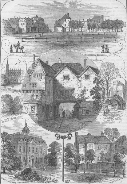 Associate Product HIGHGATE. Views in Highgate. London c1880 old antique vintage print picture