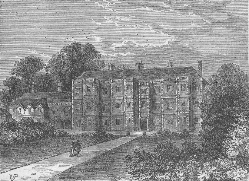 Associate Product HIGHGATE. Dorchester House, 1700. London c1880 old antique print picture