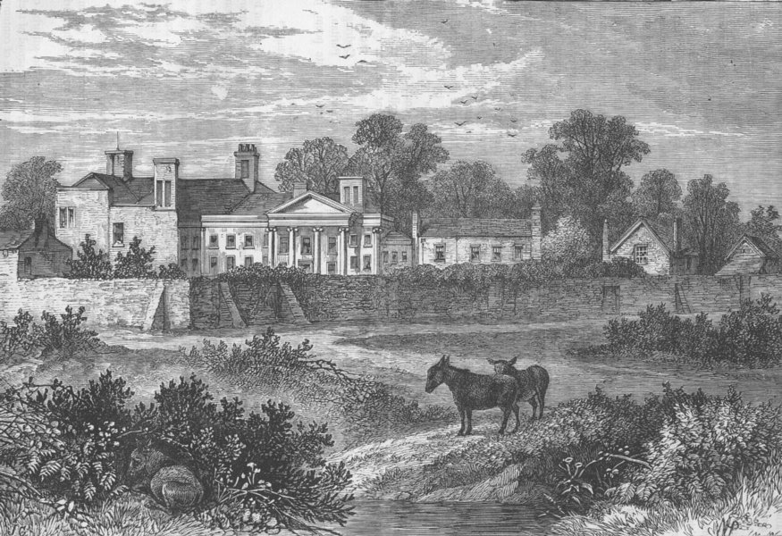 Associate Product HAMPSTEAD. Caen Wood, Lord Mansfield's House, in 1785. London c1880 old print