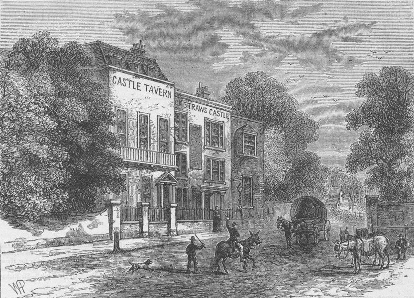 Associate Product HAMPSTEAD. Jack Straw's castle. London c1880 old antique vintage print picture