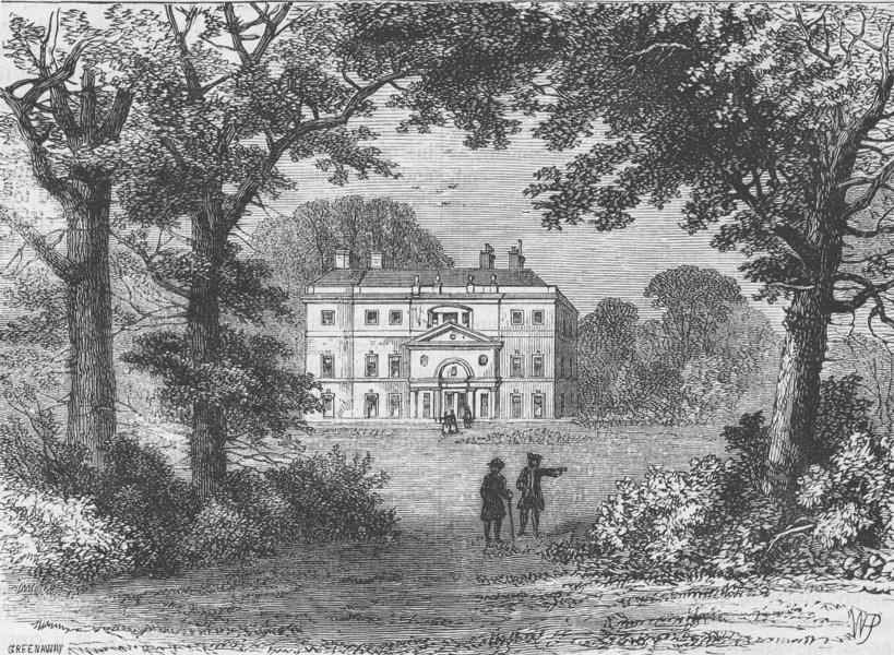 Associate Product HAMPSTEAD. Vane House, in 1800. London c1880 old antique vintage print picture