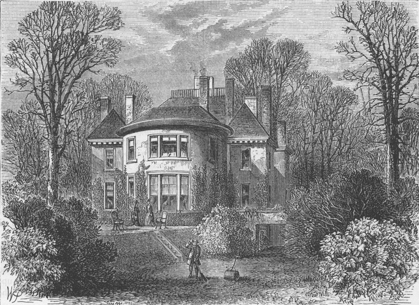 Associate Product HAMPSTEAD. Rosslyn House. London c1880 old antique vintage print picture