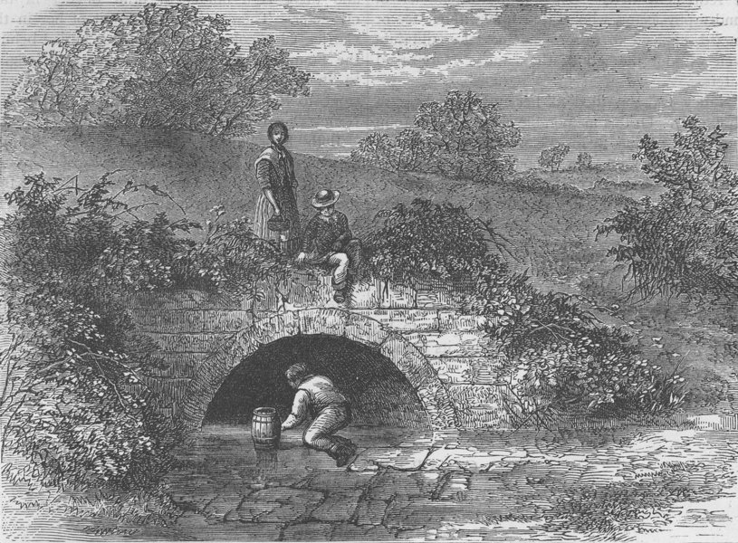 Associate Product HAMPSTEAD. Shepherd's Well in 1820. London c1880 old antique print picture