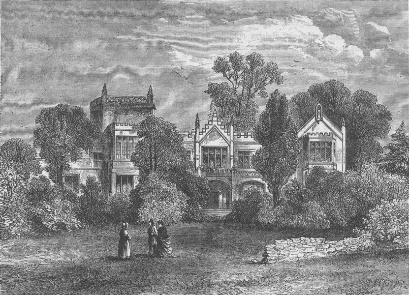 Associate Product HAMPSTEAD. Frognal Priory. London c1880 old antique vintage print picture