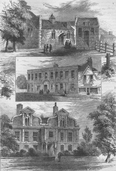 KINGSLAND. Chapel, 1780; Lock Hospital, 1780; Shacklewell House, 1700 c1880