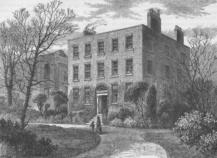 Associate Product DALSTON. The Manor-House. London c1880 old antique vintage print picture