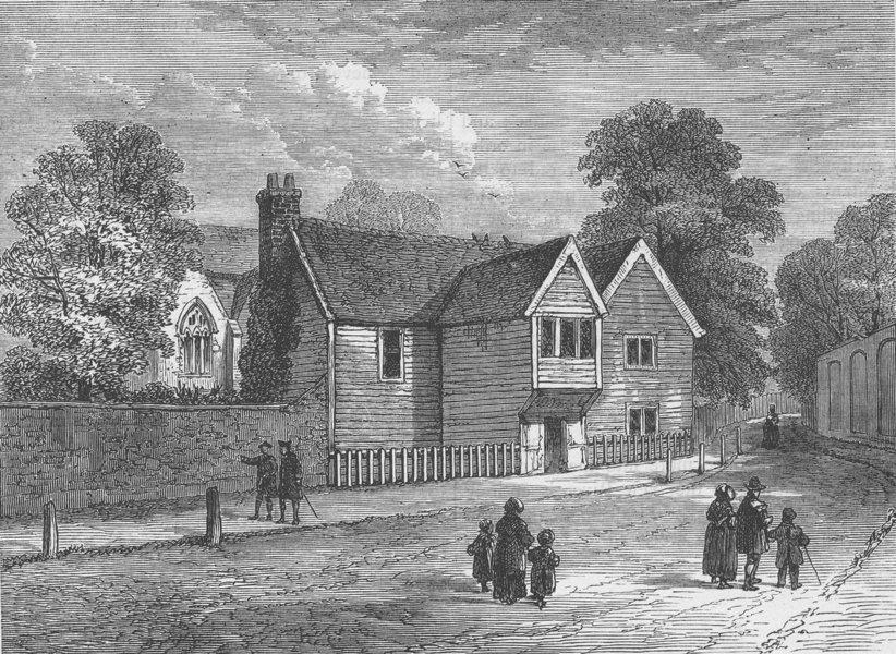 Associate Product STOKE NEWINGTON. The Old Rectory, Stoke Newington, in 1858. London c1880 print