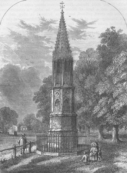 Associate Product TOTTENHAM. Tottenham High Cross, 1820. London c1880 old antique print picture
