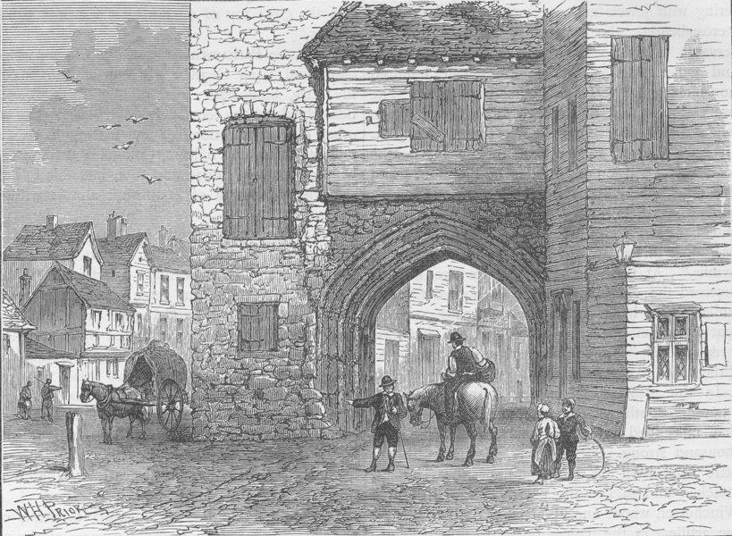 Associate Product SOUTHWARK. Priory of St.Mary Overy, 1700. London c1880 old antique print