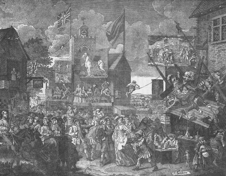 Associate Product SOUTHWARK. Southwark Fair (after Hogarth's picture). London c1880 old print
