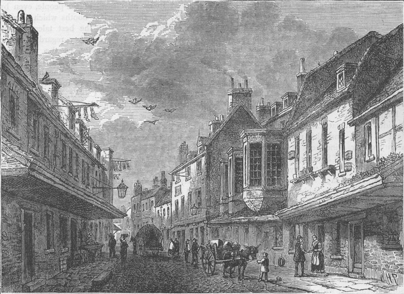 Associate Product SOUTHWARK. The mint, Southwark, in 1825. London c1880 old antique print