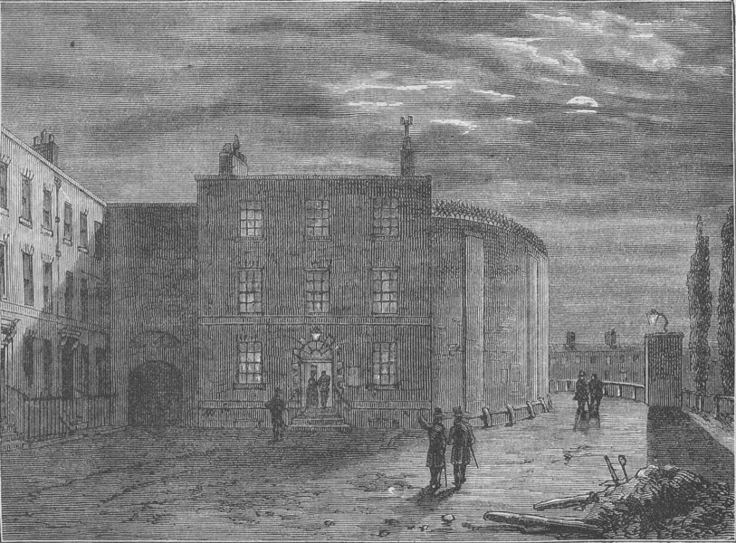 Associate Product SOUTHWARK. The King's bench, Southwark, in 1830. London c1880 old print
