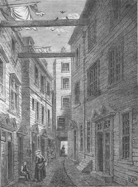 Associate Product SOUTHWARK. Boar's Head Court-yard. London c1880 old antique print picture