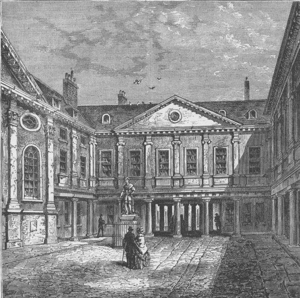 Associate Product SOUTHWARK. St.Thomas's Hospital, 1840. London c1880 old antique print picture