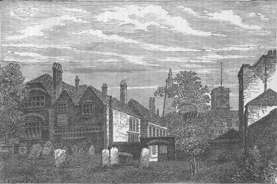Associate Product BERMONDSEY. The grammar School of St.Olave's, 1810. London c1880 old print