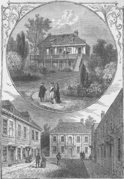Associate Product BERMONDSEY. Jamaica House. Cherry Garden Street in 1826. London c1880 print