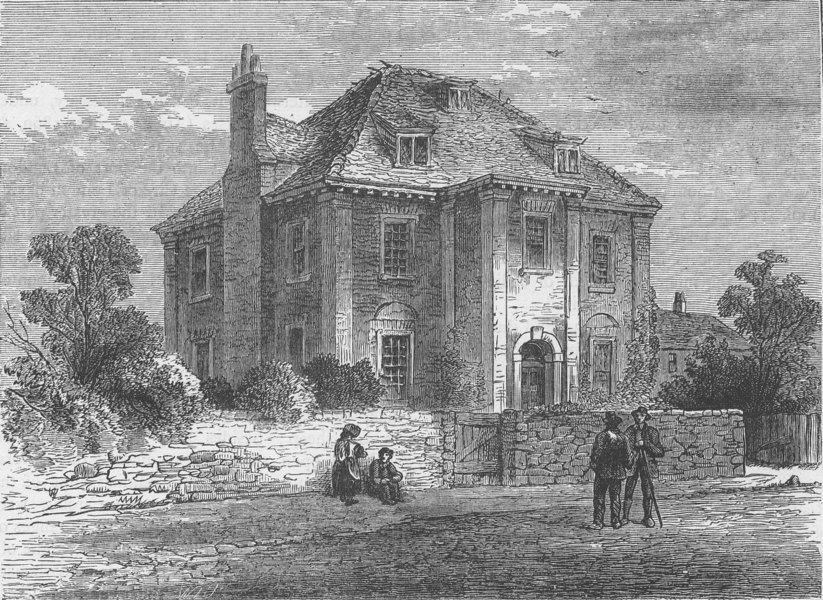 Associate Product DEPTFORD. Peter the Great's House at Deptford (1850). London c1880 old print