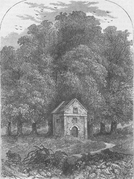 GREENWICH. Old conduit, Greenwich Park, in 1835. London c1880 print