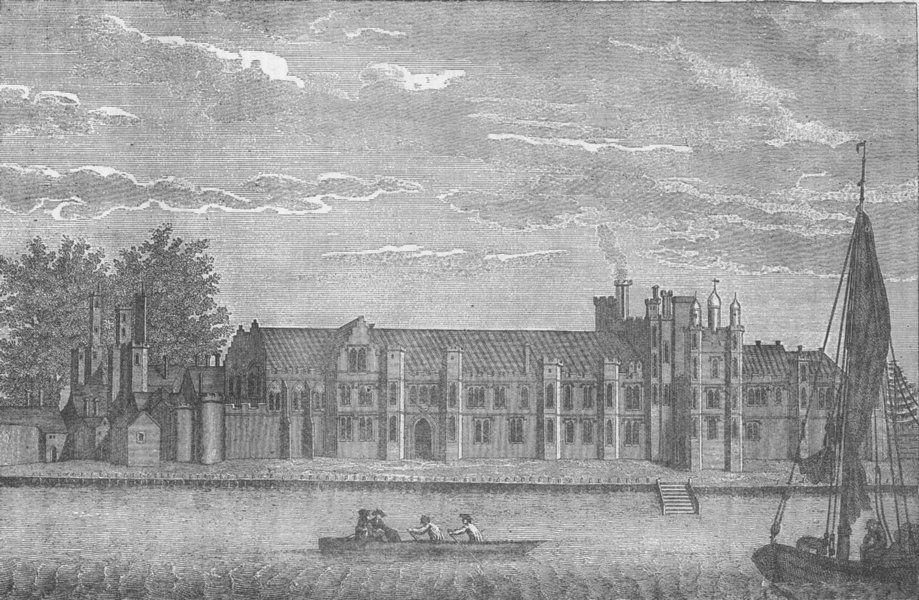 Associate Product GREENWICH. The Ancient Royal Palace, called Placentia in 1767. London c1880