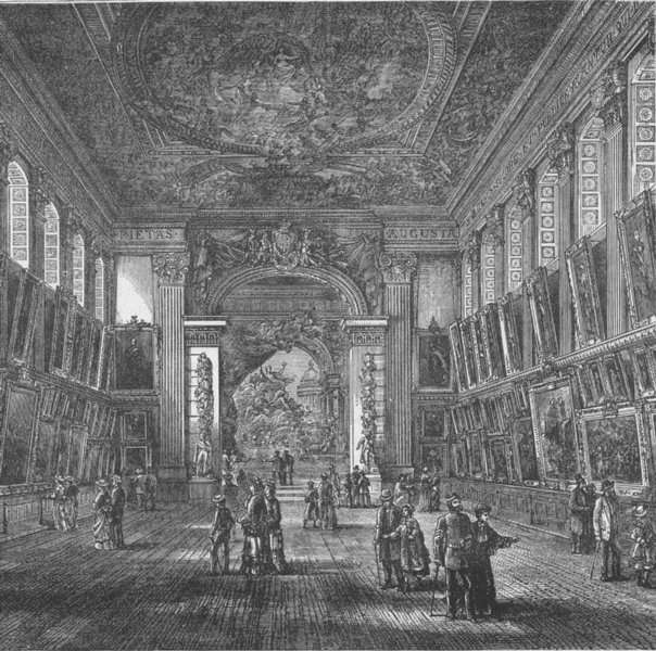 Associate Product GREENWICH. The painted Hall, Greenwich Hospital. London c1880 old print