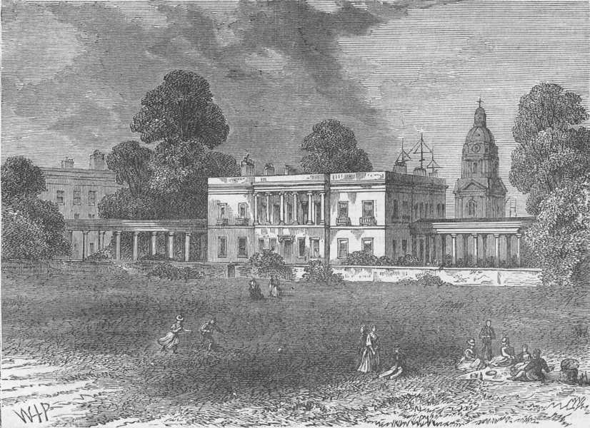 Associate Product GREENWICH. The Royal Naval School, Greenwich, 1830 c1880 old antique print