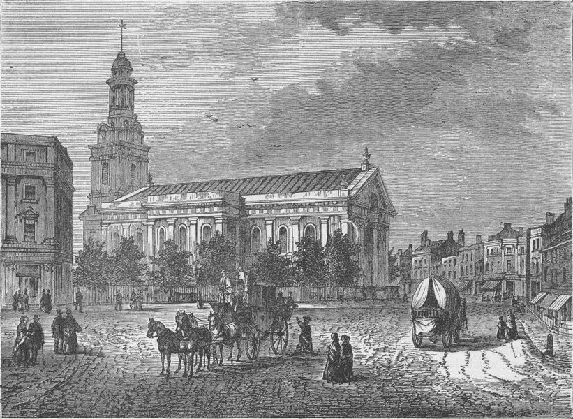 Associate Product GREENWICH. The Parish Church, Greenwich. London c1880 old antique print