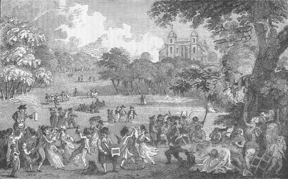 Associate Product GREENWICH. Easter Monday in Greenwich Park (Rawle 1802). London c1880 print