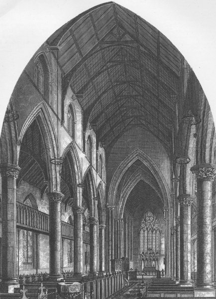Associate Product CAMBERWELL. St.Giles' Church, Camberwell. London c1880 old antique print