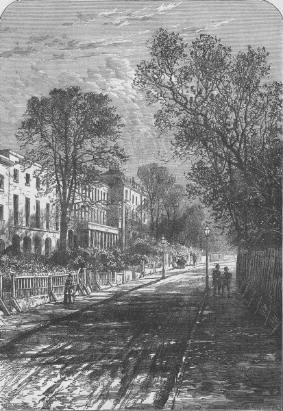 Associate Product CAMBERWELL. Grove Lane, Camberwell. London c1880 old antique print picture