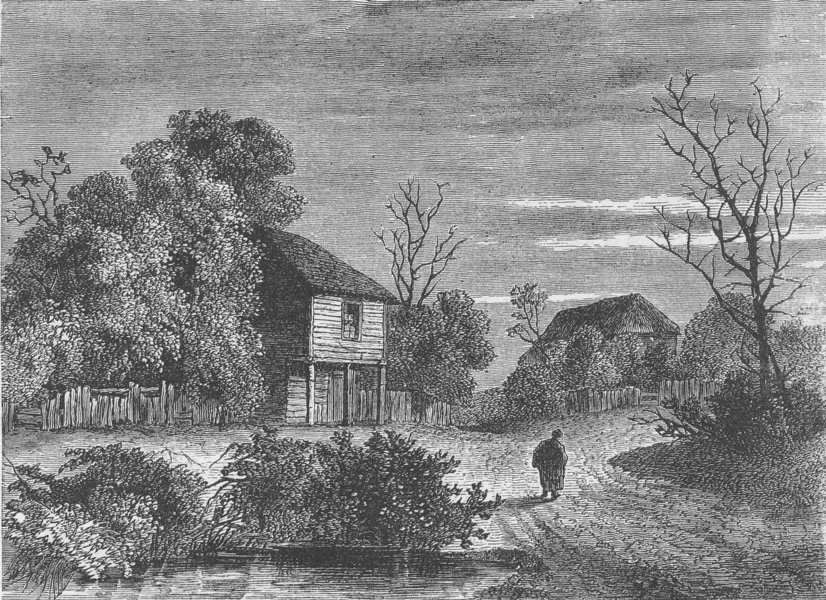 Associate Product NORWOOD. Margaret Finch's cottage, in 1808. London c1880 old antique print
