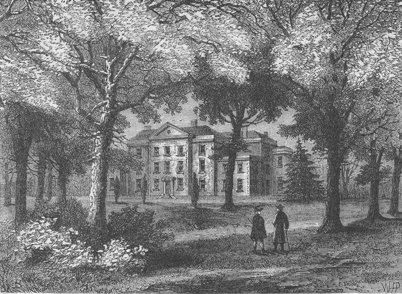 Associate Product STREATHAM. Mrs. Thrale's House. London c1880 old antique vintage print picture
