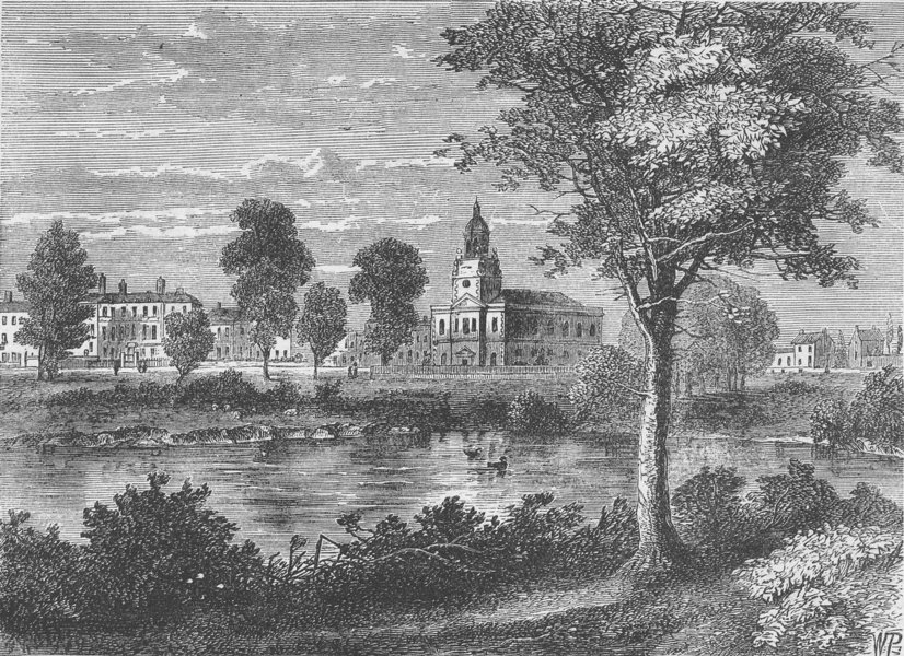 Associate Product CLAPHAM. View of Clapham in 1790. London c1880 old antique print picture