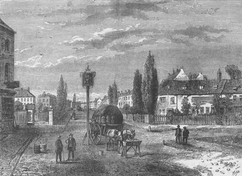 Associate Product KENNINGTON. Kennington, from the Green, 1780. London c1880 old antique print