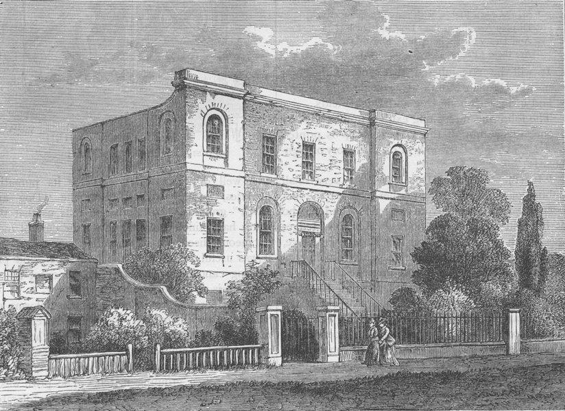 Associate Product ST.GEORGE'S FIELDS, SOUTHWARK The Freemasons' Charity School (Rawle 1800) c1880