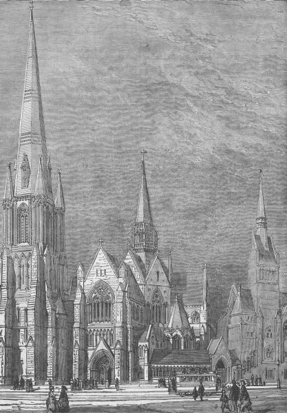 Associate Product ST.GEORGE'S FIELDS, SOUTHWARK. Christ Church, Westminster Road. London c1880