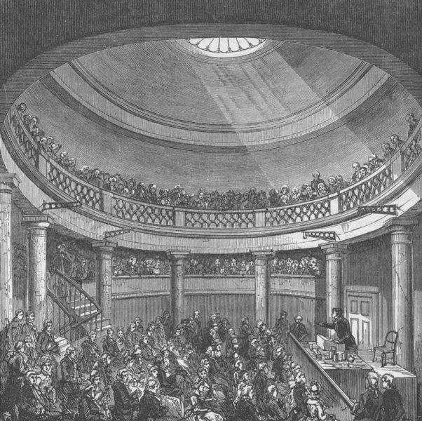 Associate Product BLACKFRIARS ROAD, SOUTHWARK. Interior of the Rotunda, in 1820. London c1880