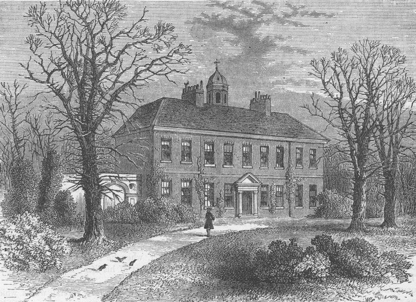 Associate Product VAUXHALL. York House, 1790. London c1880 old antique vintage print picture