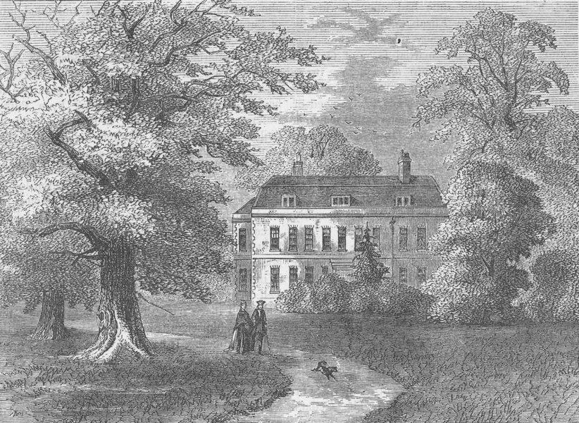Associate Product PUTNEY. Putney House, 1810. London c1880 old antique vintage print picture