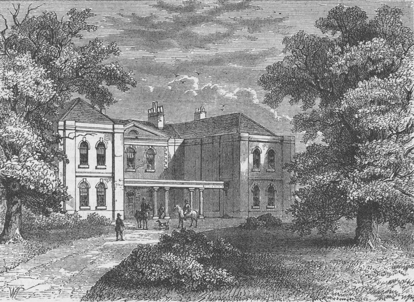 Associate Product PUTNEY. Lime Grove, in 1810. London c1880 old antique vintage print picture