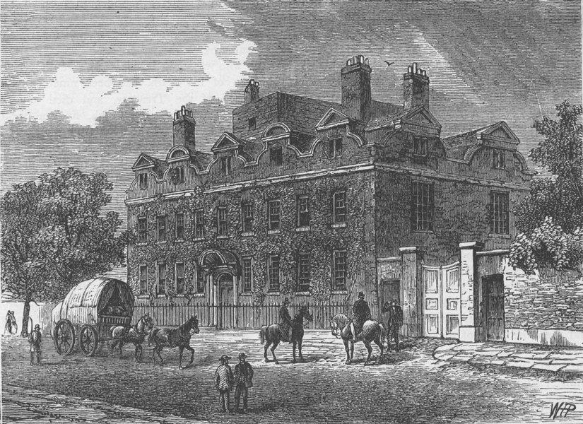 Associate Product PUTNEY. Fairfax House. London c1880 old antique vintage print picture