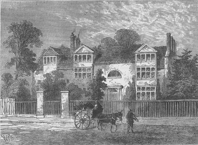 Associate Product FULHAM. Richardson's House at parson's green, 1799. London c1880 old print