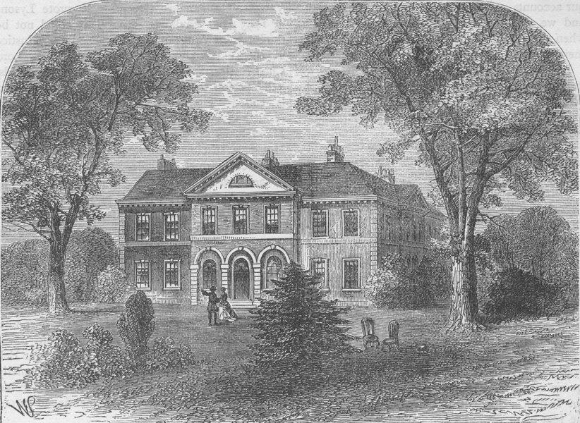 Associate Product FULHAM. Peterborough House. London c1880 old antique vintage print picture