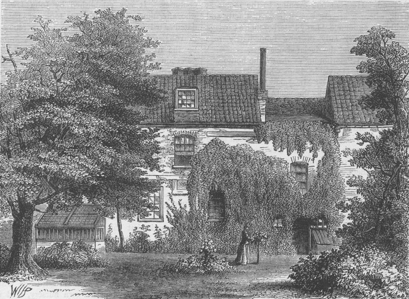 Associate Product FULHAM. Nell Gwynne's House. London c1880 old antique vintage print picture
