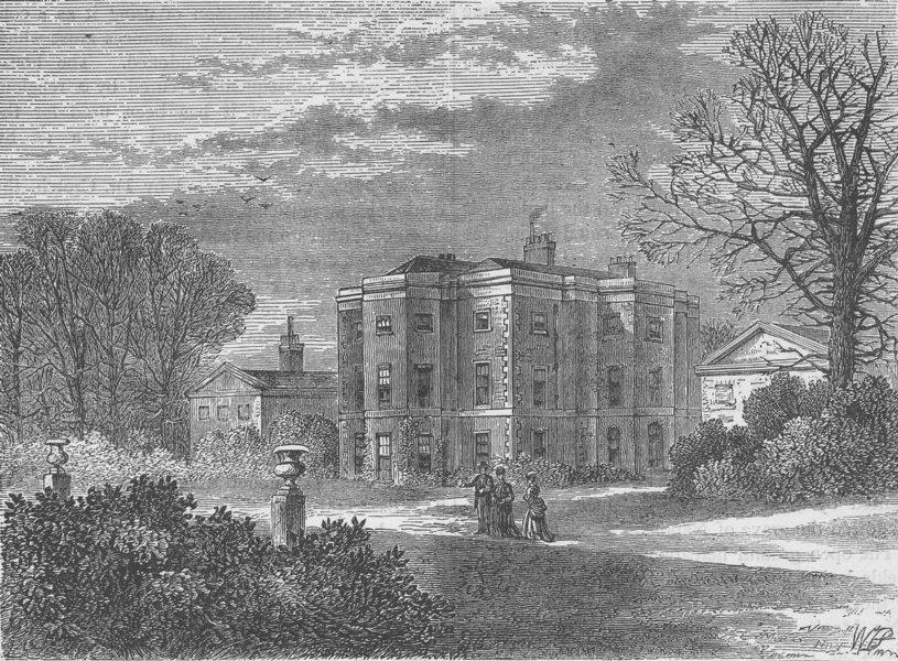 Associate Product FULHAM. Ranelagh House. London c1880 old antique vintage print picture