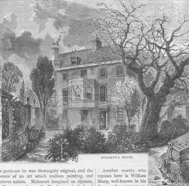Associate Product CHISWICK. Hogarth's House. London c1880 old antique vintage print picture