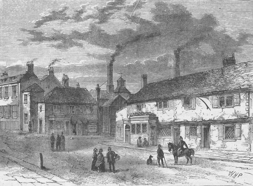 Associate Product CHISWICK. Entrance to Chiswick. London c1880 old antique vintage print picture
