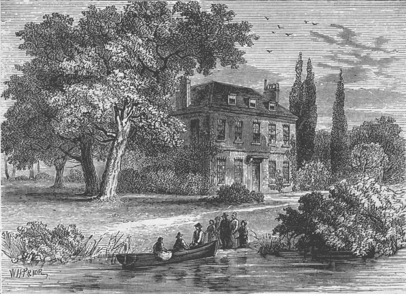 CHISWICK. Corney House, in 1760. London c1880 old antique print picture