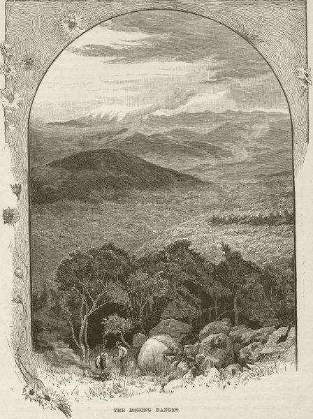 Associate Product MOUNTAINS. Australian Alps. Bogong ranges 1890 old antique print picture